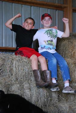 Mason and Turner on Hay Mountain