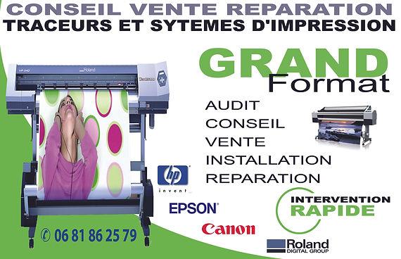 vente réparation depannage traceur hp designjet Epson Canon Bordeaux 33