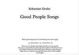 Good People Songs