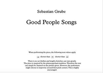 Good People Songs Score
