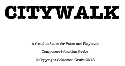 Citywalk Score