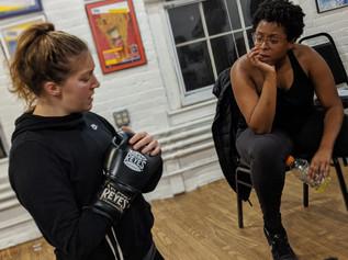 Rehearsal with Boxer/Dancer Kim Holman