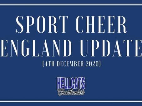 Sport Cheer England update