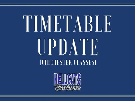 Timetable Update for Chichester!