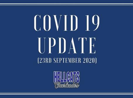 Covid-19 Update - 23rd September 2020