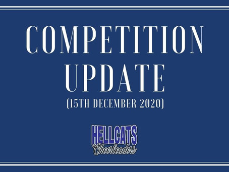 Competition Update - Important Information