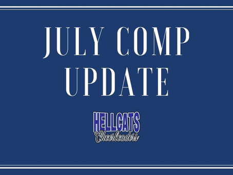 Covid-19 Update - July Competitions