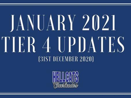 January 2021 - Tier 4 Updates