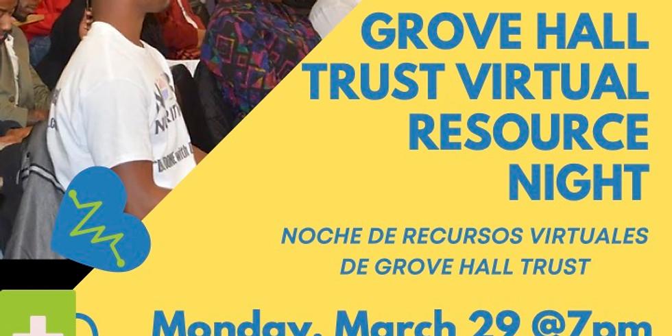 Grove Hall Trust Virtual Resource Night