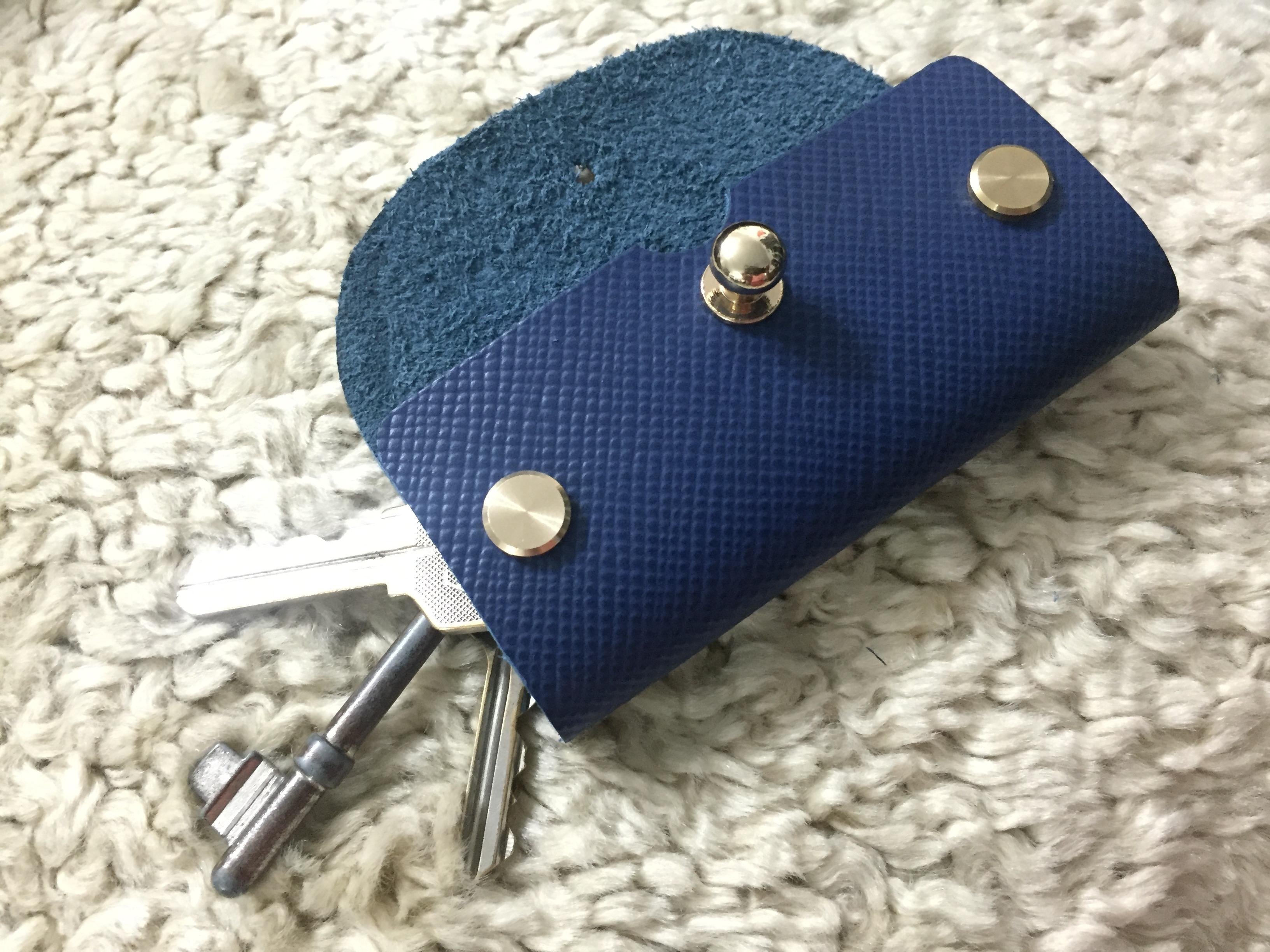 Saffiano Key Pouch