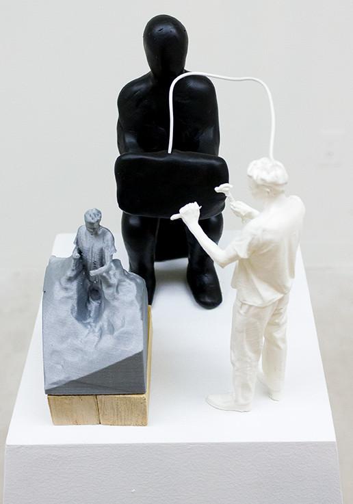 Sculptor Sculpting a Sculpture of a Sculptor