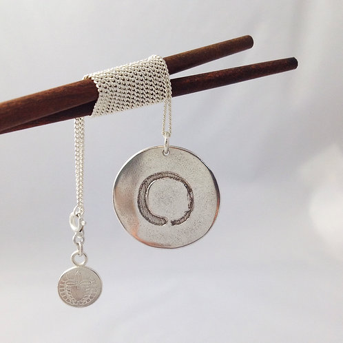 Enso Pendant in Sterling Silver