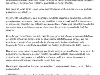 Atenção clientes Porto Seguro, Itaú Seguros e Azul Seguros
