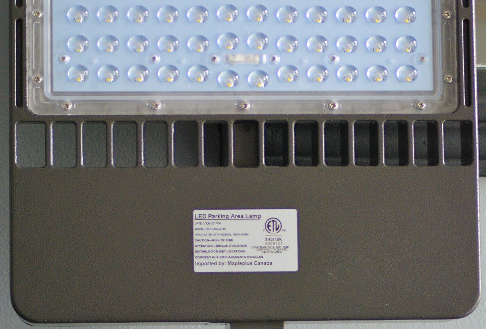 LED Parking Area Lamp (PL345 Series) 150 Watts