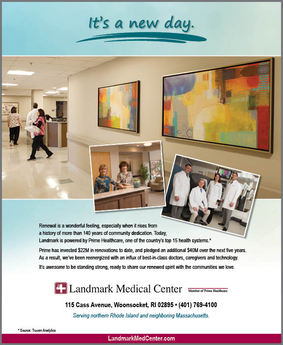 Landmark Medical New Day print ad
