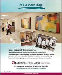 Landmark Medical New Day print ad
