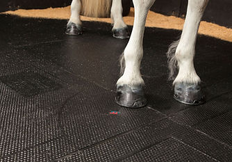 Interlocking rubber barn, stall and stable mats