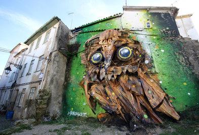 Arte Urbana por todo o centro histórico da Covilhã