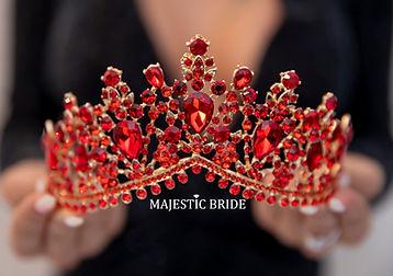 rote krone hochzeit braut