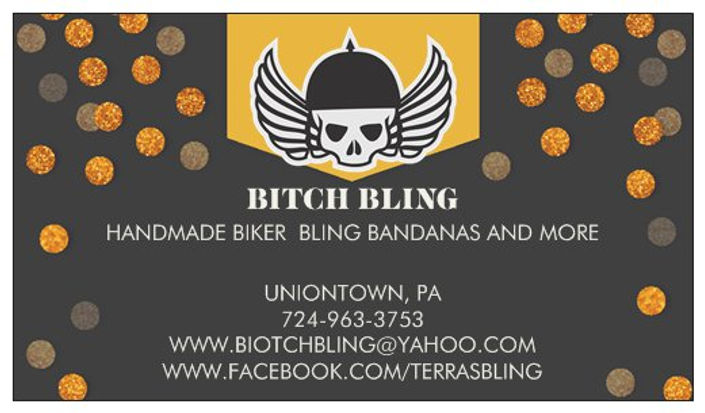 Bitch Bling business card