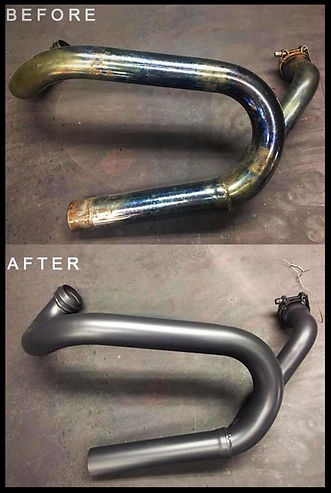 custom coated motorcycle parts