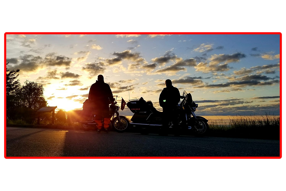 motorcycles with sunset
