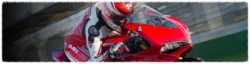 Ducati Panigale in track