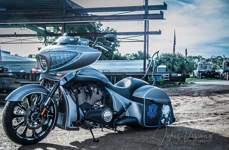 Custom painted motorcycle