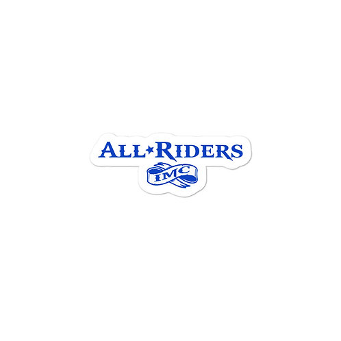 All Riders IMC Blue Bubble-free sticker
