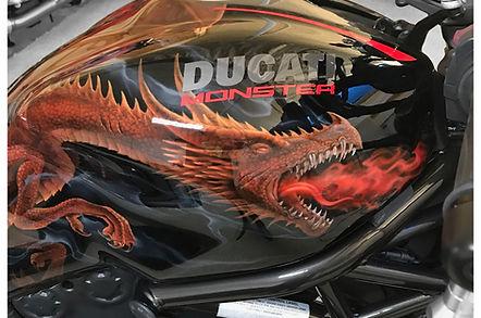 custom painted ducati monster 1200r