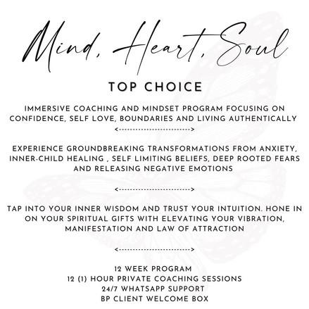 MIND HEART SOUL PROGRAM