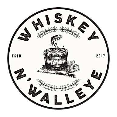 WHISKEY N WALLEYE BLACK white opaque bac