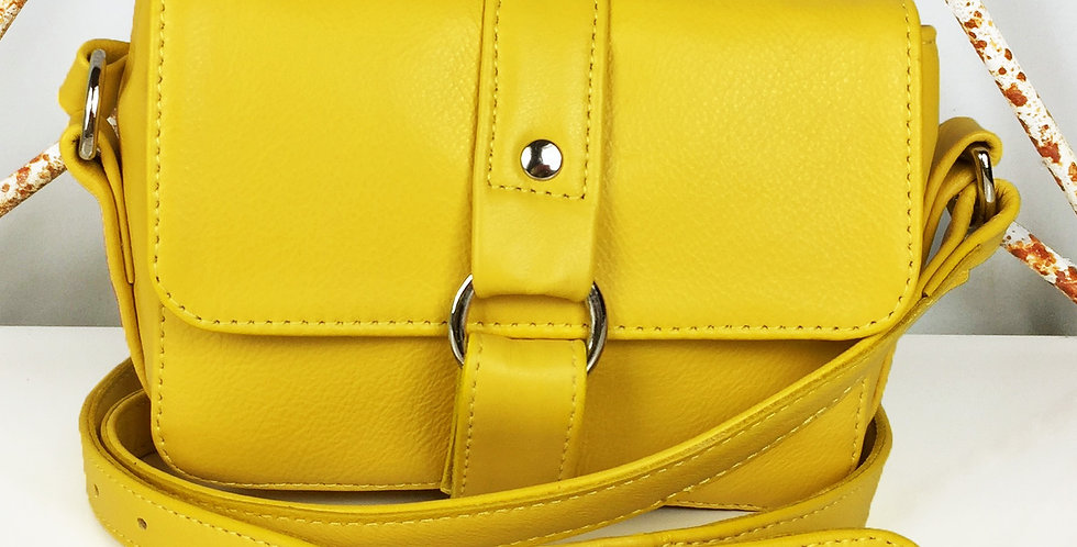 Mini Yellow leather handbag