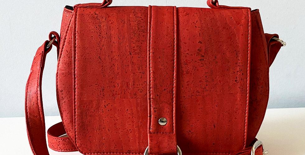 Red Cork Saddle Bag