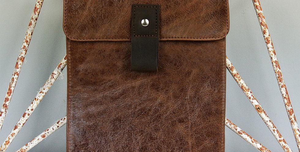 Brown leather iPad case