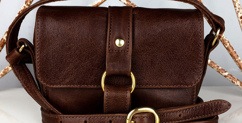 Berry Mini Handbag - Rustic Brown