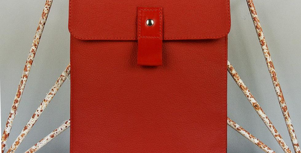 Red leather iPad case UK