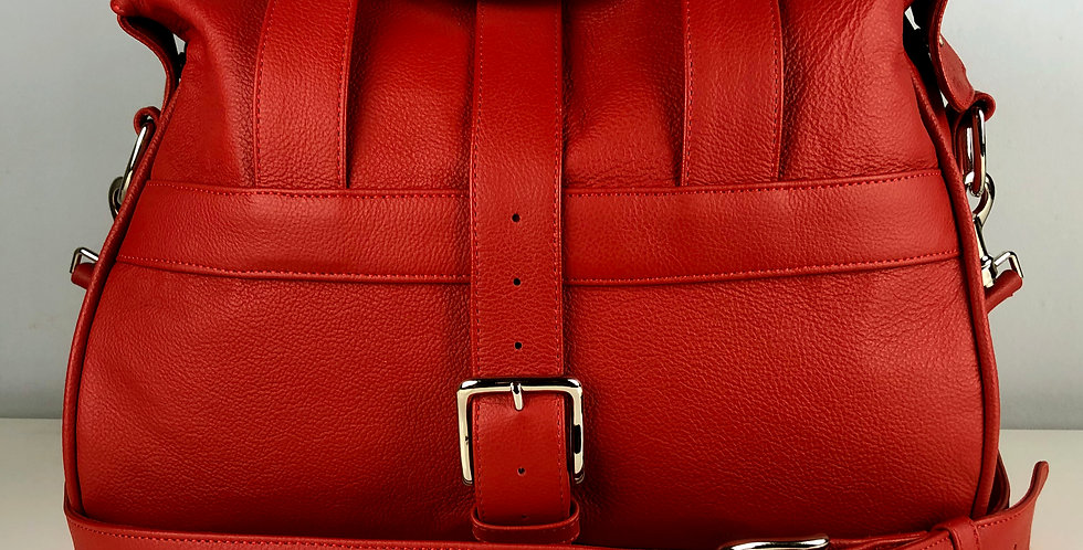 Red Leather Overnight Bag