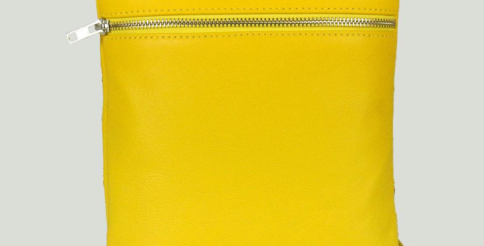 Yellow Marledon Zipper Messenger