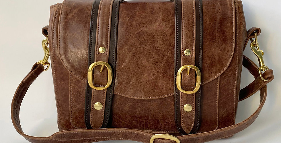 Two Tone Brown Cleo Handbag