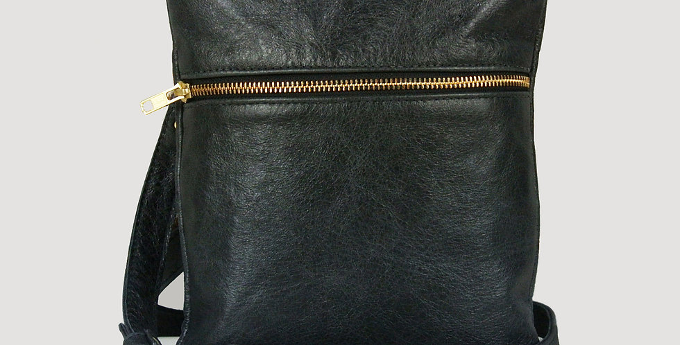 Black Marledon Zipper Messenger