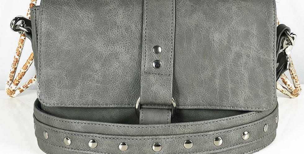 Midi Berry Handbag - Grey