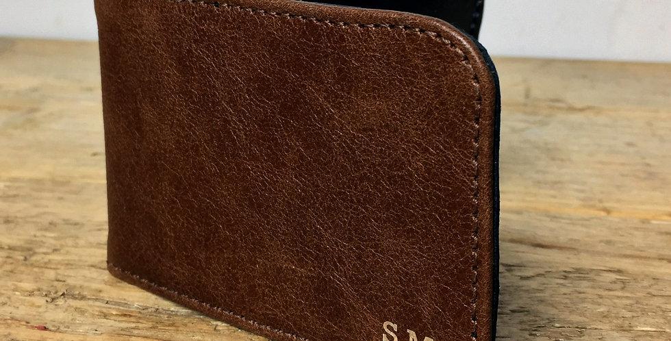 Personalised Rustic Brown Card Holder