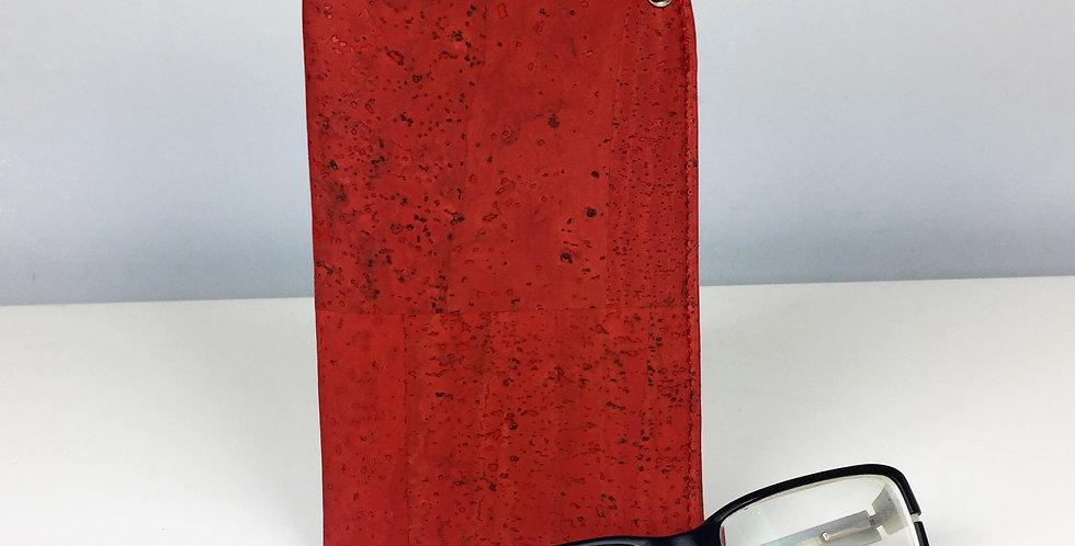 Vegan cork glasses case