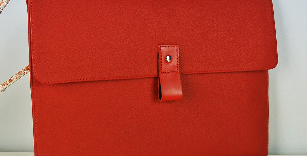 Red Leather Macbook Air case