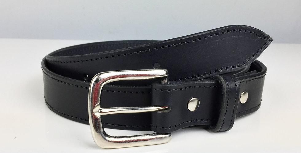 32mm Black leather belt