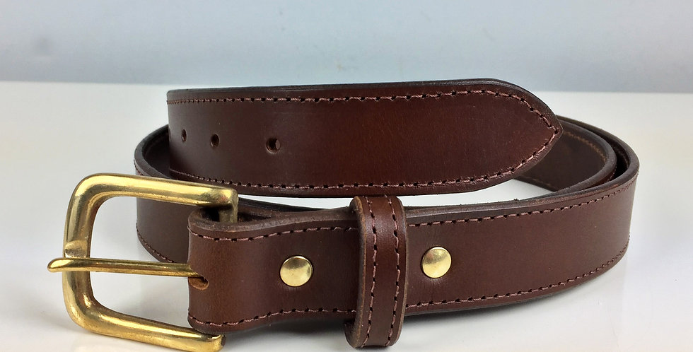 32mm Brown leather belt UK