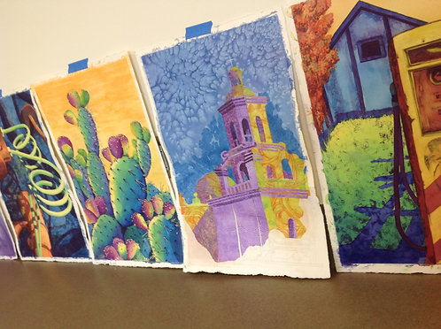 Painting the Hot Colors of the Sonoran Desert