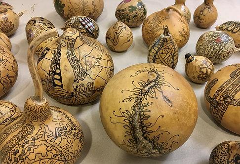 Zentangle on Desert Gourds