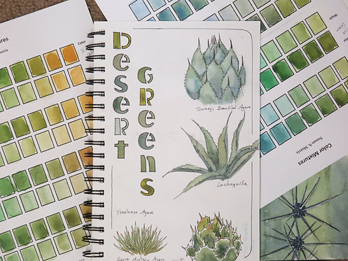 Color Mixing: Agave Inspired